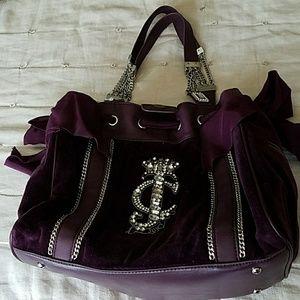 Purple velvet Juicy Couture Purse